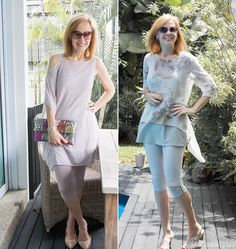 How to wear leggings over 40, 50, 60 and beyond. Ponte leggings are a good choice. If you like even thicker leggings, you may consider jeggings or elastic skinny jeans. I would steer clear of shiny or sheer leggings.
