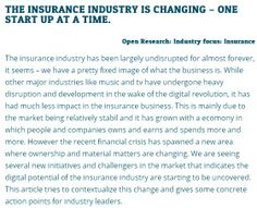 THE INSURANCE INDUSTRY IS CHANGING – ONE START UP AT A TIME :: what should insurance companies do? Adapting to the changes in any industry takes time and contemplation, but here is a few pointers at what you should consider:1.Understand what the digitalization is doing for the business;2.Start looking for the next business model;3.Know the challengers;4.Start innovating by incubating