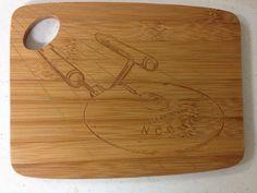 Star Trek Enterprise Engraved Cutting Board by RevengeOfThePrinter