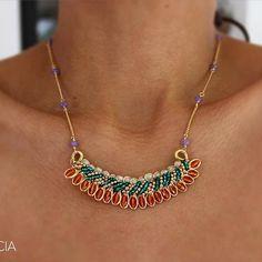 ☀️☀️☀️PG☀️☀️☀️ Cadenita con cristales  #patriciagarciaaccesorios #chapadeoro #handmadejewerly #diseñomexicano #mexicocreativo #loveit #pg #mexicocreativo #fashion #orange #madeinmexico #joyeriaartesanal #mexico #lmm #necklace #collares #hechoamano