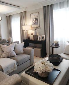Decor Home Living Room, Elegant Living Room, New Living Room, Living Room Interior, Home Interior Design, Home And Living, Living Room Designs, Luxury Interior, Modern Living