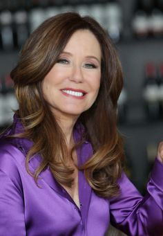 mary mcdonnell | Mary McDonnell - purple satin blouse