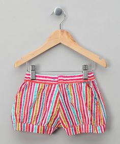 Multi-Coloured Striped Shorts by Dudu Girls on zulilyUK
