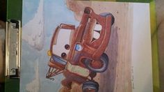 Mater from Disney/Pixar's Cars. Illustrated with Prismacolor Markers and Sepia Micron Pigma inks.