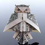 Money Origami: originalidad en billetes de un dólar