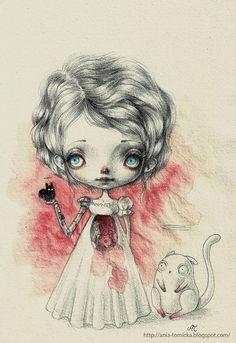 (via Super Punch: Illustration roundup) Ania Tomicka. Digital Art Fantasy, Fantasy Art, Copic, Illustrations, Illustration Art, Pop Surrealism, Gothic Art, Beautiful Artwork, Love Art