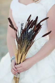 Bouquet option for bridesmaids...this is great for a fall rustic wedding!
