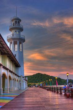 Lighthouse on Langkawi Island in Malaysia