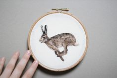Emillie Ferris' Embroidered Hoop Art Pays Homage to Our Furry and Prickly Friends