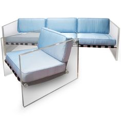 Milo Baughman, Lucite, Aluminum and Leather Lounge Chair, 1970s.