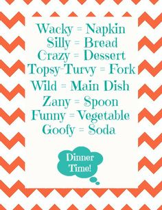 Blue Skies Ahead: April Fool's Day Mixed-up Menu for dinner!!  Free Printables