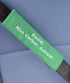 Autism Seatbelt Cover Medical Alert Seatbelt Cover