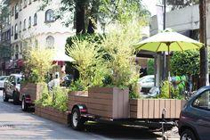 parklets - A new alternative public space in the city / Spaces + DAS Architecture Foundation Landscape And Urbanism, Urban Landscape, Landscape Design, Urban Furniture, Street Furniture, Parque Linear, Public Space Design, Public Spaces, Temporary Architecture