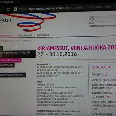 KIRJA, Viini&RUOKA MESSUT. MESSUKESKUS, Helsinki. Seuraa Blogia, infoa tulossa viimeistään ensiviikolla. SUOSITTELEN. Tykkäsin, nautin ja viihdyin la 29.10.2016.... Nähdään HYMY #messut #messukeskus #kirjamessut #viinijaruokamessut #viini #ruoka #juoma #kirjat #kirjallisuus ☺