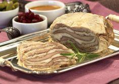 Kalkunsylte Apple Pie, Food And Drink, Beef, Breakfast, Desserts, Recipes, Foods, Board, Meat