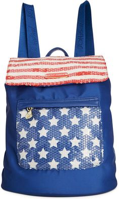 Betsey Johnson also has an Americana Tote w/matching wallet, it's equally as cute as this bag! http://www.leatherlaceandturquoise.com/ Betsey Johnson Macy's Exclusive American Backpack • Betsey Johnson • $57.99
