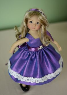 "SOLD ""Purple Performance Dress"" Clothes, Outfit for 13"" Dianna Effner Little Darling"