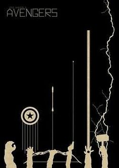Avengers Minimalist Movie Poster