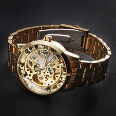 http://www.jijystore.ca/product/mechanical-watch-golden-stainless-steel-men/  Other Mechanical watch from our great collection. Classic and glamour, a must have for elegance. Exceptional design that will attract everyone even the most hard to please.