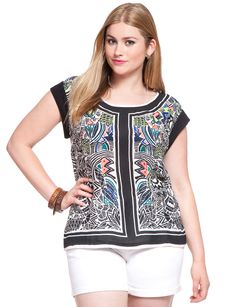 Hand Embroidered Top | Women's Plus Size Tops | ELOQUII