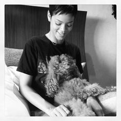 Famous people (Rihanna) + Dogs