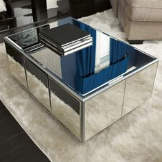 DIY mirrored coffee table with a tutorial from Home Depot