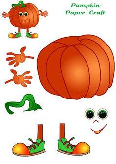 Pumpkin paper craft for kids