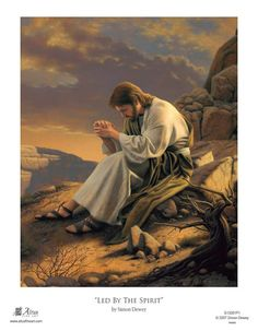 Images of Christ Collection: Detail of Jesus sitting on a rock praying in the wilderness. Pictures Of Jesus Christ, Religious Pictures, Religious Art, Images Bible, Bible Pictures, Group Pictures, Lds Art, Bible Art, Croix Christ