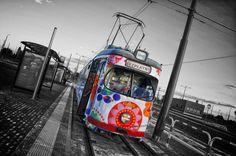 Poznań, specjalny bezpłatny tramwaj do Ikei na Franowo. Duewag GT8 #685 - #Poznan, #tramwaj, #tram, #franowo Train Light, Rail Europe, Metro Map, Subway Map, Light Rail, European Football, Climate Change, Color Splash, Habitats