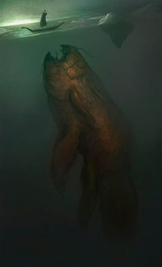 sea monster...ummm yikes!!!  this is why i dont dont go into dark water... lol