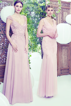 Hot Wedding Trend: Pastel Perfection. Style your bridal party in dreamy blush hues topped with romantic lace embellishments. See the full selection of dresses, shoes and accessories for the entire wedding party online at LE CHÂTEAU's Wedding Boutique.