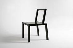 designer black chicago chair made from aluminium