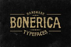 FREE DOWNLOAD! Bonerica Typeface by Jiw on Creative Market