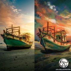 #painting #digitalart #youtube #digitalartist Speed Paint, Painting Videos, Digital Art, Landscape, Illustration, Youtube, Design, Scenery