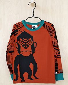 Mainio Clothing: Kids organic monkey tee