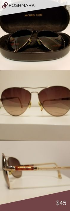AUTHENTIC Michael Kors 😎 MK sunglasses, screws may need to be tighten and readjusted to your face. Overall still in good condition. Case and cloth is included😊 Accessories Glasses
