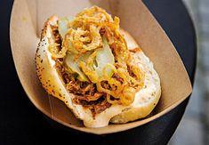 Cheesesteak, Mashed Potatoes, Hamburger, Tacos, Ethnic Recipes, Food, Whipped Potatoes, Smash Potatoes, Essen