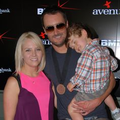 Photo of Eric Church & his  Son  Boone McCoy Church