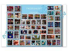 Twiddlemuffs collection made by Anna-Liisa #twiddlemuffs #made_by_ALL