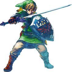 Render Zelda - Renders The Legend Of Zelda Skyward Sword Link Epee Bouclier Blond