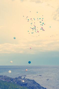 Balloons released in celebration.