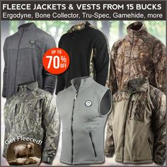 Get fleeced: wild deals on fleece jackets, vests & more, starts 15 bucks! If you don't take advantage of this monstrous deal, we'll have to sit you in Fleece Jackets, Hunting Jackets, Stay Warm, Vest Jacket, Canada Goose Jackets, Vests, Winter Jackets, Fashion