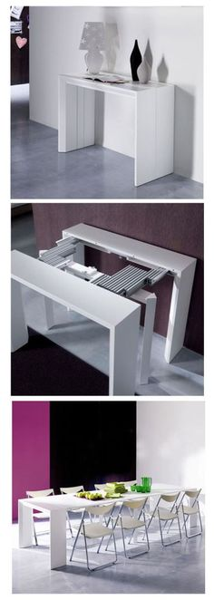 Goliath can be a console table one minute and a full length dining room table the next.