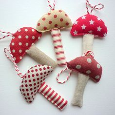 toadstool ornaments- need for my toadstool tree!