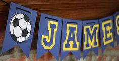 Personalized Soccer Banner for Soccer Birthday, Banquet, or Party, Soccer Banquet, Soccer Party by TheJoyfulHauss, $18.00