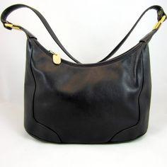 Mark Alexander Rare Vintage Black Genuine Leather Shoulder Bag Beautiful EUC
