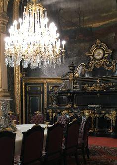 Interior Designs and Decorations Dining Room Suites, Springtime In Paris, Napoleon Iii, Chandelier, Ceiling Lights, Interior Design, Apartments, Louvre, Film