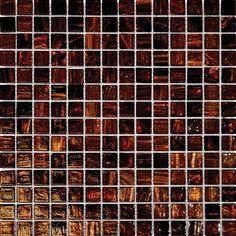 Brown Iridescent Glass Mosaic Tile Sample Backsplash !~ Kitchen Floor Shower Spa