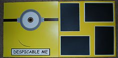 Universal Studios Premade Scrapbook Pages Despicable Me | eBay