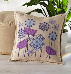 Abstract alliums | TheMakingSpot cross stitch pattern